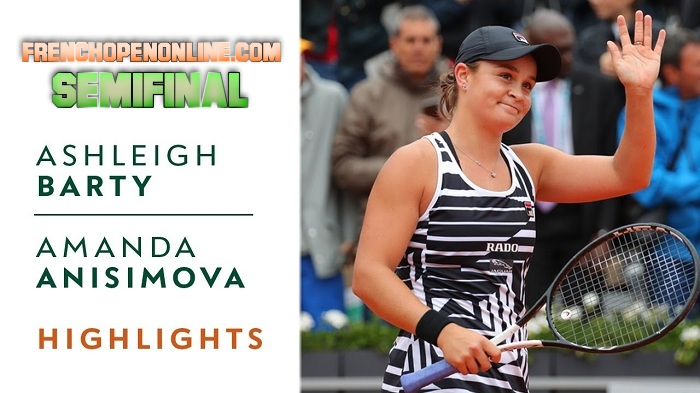 A. Anisimova VS A. Barty Semifinal Highlights 2019