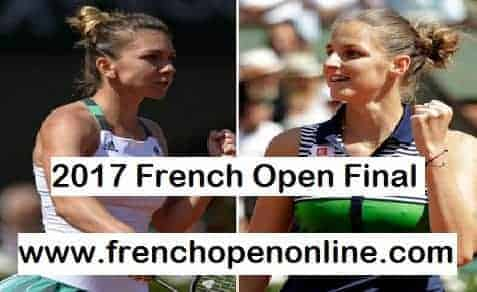 Simona Halep vs Jelena Ostapenko Final 2017 French Open Live