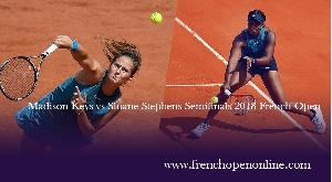 Watch M. Keys vs S. Stephens French Open 2018 Live